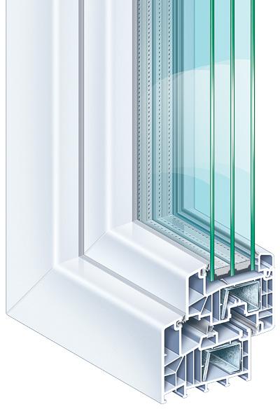 PVC raam in profiel